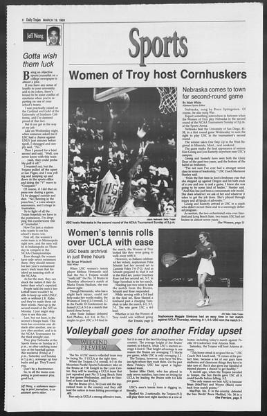 Daily Trojan, Vol. 119, No. 45, March 19, 1993