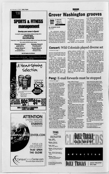 Daily Trojan, Vol. 139, No. 16, February 03, 2000