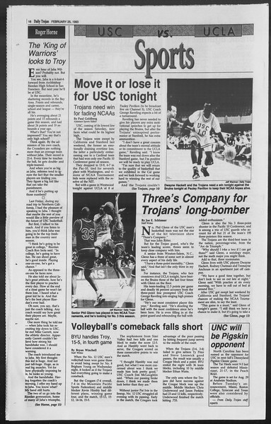 Daily Trojan, Vol. 119, No. 29, February 25, 1993