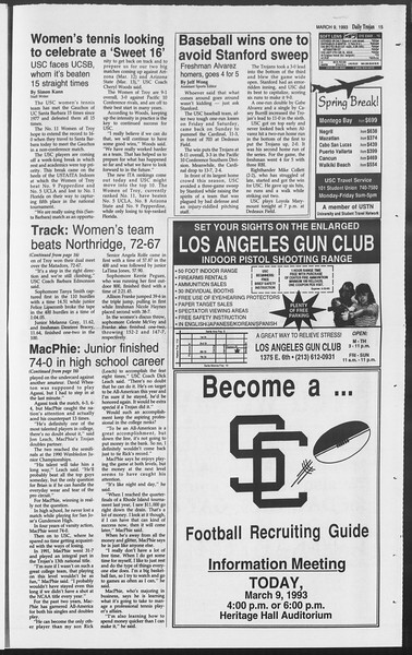 Daily Trojan, Vol. 119, No. 37, March 09, 1993