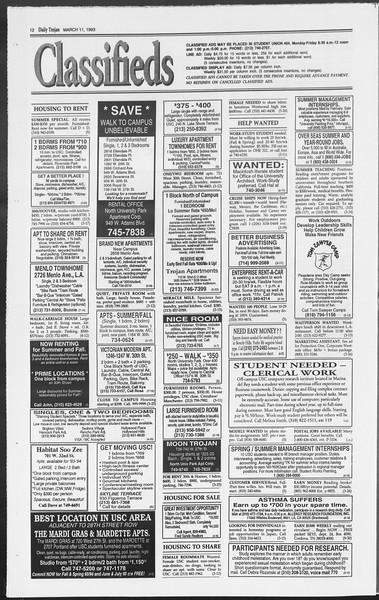 Daily Trojan, Vol. 119, No. 39, March 11, 1993