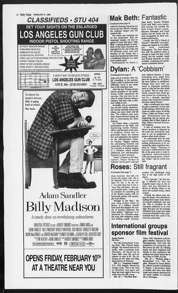 Daily Trojan, Vol. 124, No. 19, February 09, 1995