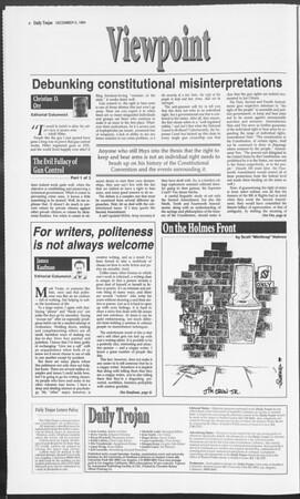 Daily Trojan, Vol. 123, No. 63, December 05, 1994