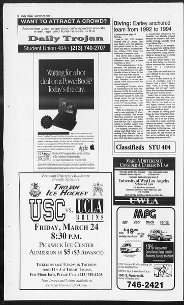 Daily Trojan, Vol. 124, No. 40, March 22, 1995