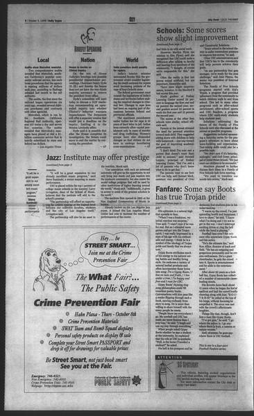 Daily Trojan, Vol. 135, No. 22, October 05, 1998