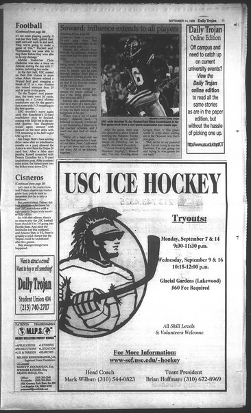 Daily Trojan, Vol. 135, No. 7, September 14, 1998