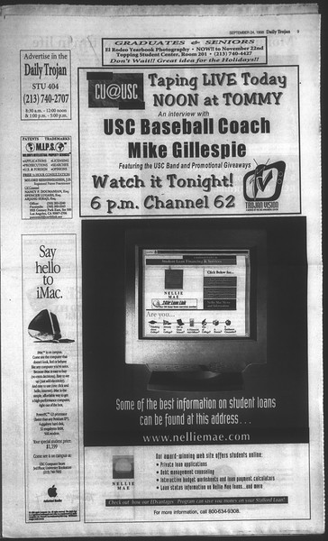 Daily Trojan, Vol. 135, No. 15, September 24, 1998
