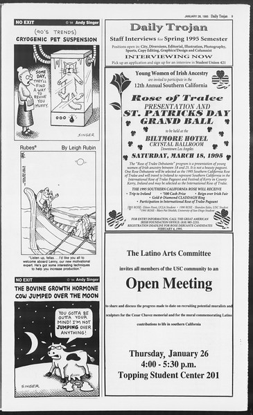Daily Trojan, Vol. 124, No. 9, January 26, 1995