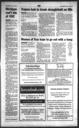 Daily Trojan, Vol. 136, No. 32, March 04, 1999