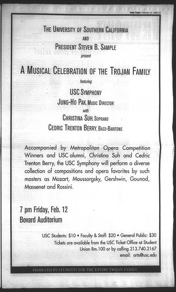 Daily Trojan, Vol. 136, No. 18, February 10, 1999