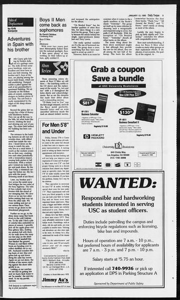 Daily Trojan, Vol. 124, No. 2, January 13, 1995