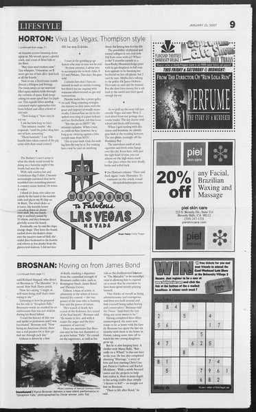 Daily Trojan, Vol. 160, No. 11, January 25, 2007