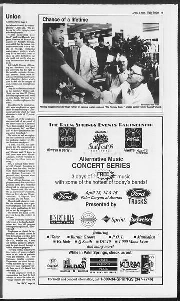 Daily Trojan, Vol. 124, No. 51, April 06, 1995