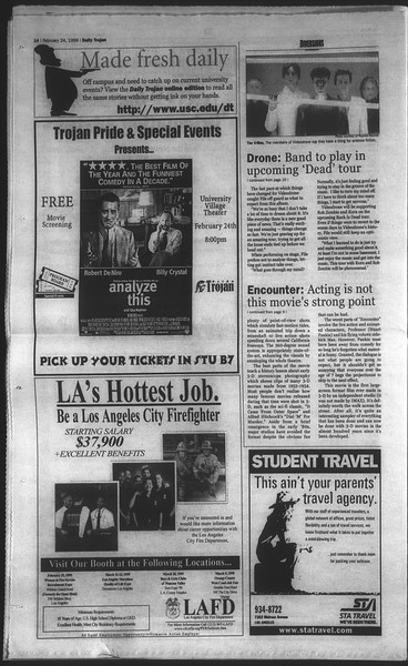 Daily Trojan, Vol. 136, No. 26, February 24, 1999