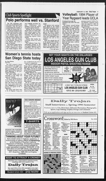 Daily Trojan, Vol. 124, No. 23, February 15, 1995