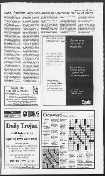 Daily Trojan, Vol. 124, No. 12, January 31, 1995