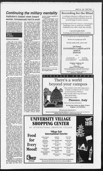 Daily Trojan, Vol. 124, No. 46, March 30, 1995