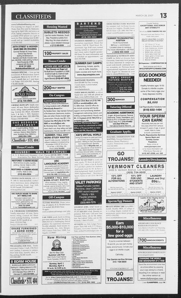 Daily Trojan, Vol. 160, No. 46, March 28, 2007