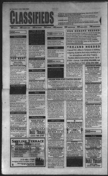 Daily Trojan, Vol. 135, No. 64, December 09, 1998