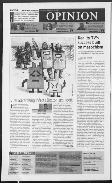 Daily Trojan, Vol. 160, No. 19, February 06, 2007