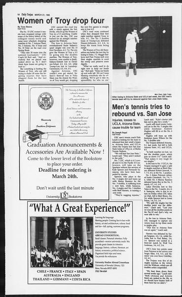 Daily Trojan, Vol. 124, No. 39, March 21, 1995