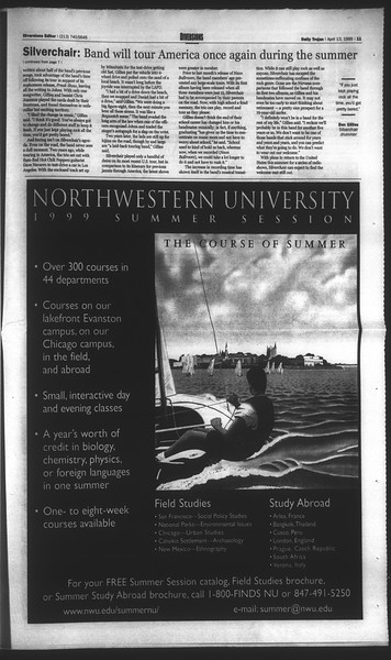 Daily Trojan, Vol. 136, No. 53, April 13, 1999