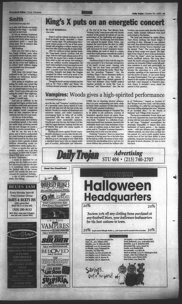 Daily Trojan, Vol. 135, No. 41, October 30, 1998