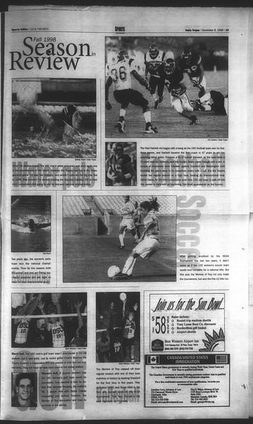 Daily Trojan, Vol. 135, No. 63, December 08, 1998