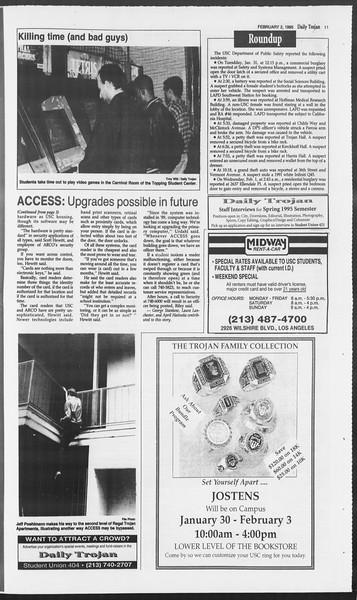 Daily Trojan, Vol. 124, No. 14, February 02, 1995