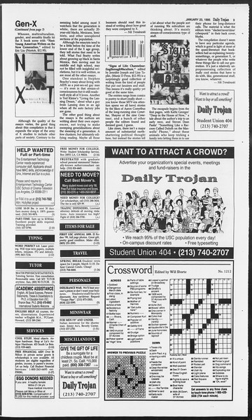 Daily Trojan, Vol. 124, No. 6, January 23, 1995
