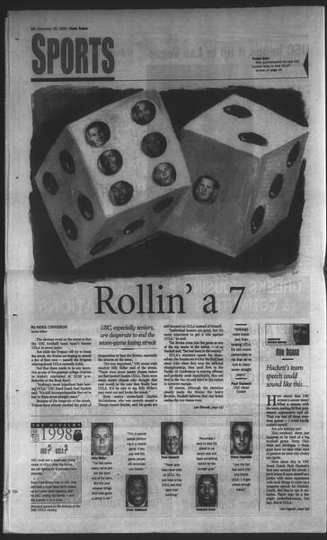 Daily Trojan, Vol. 135, No. 55, November 20, 1998