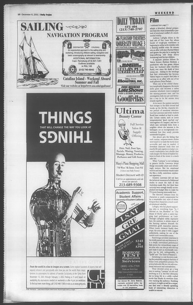 Daily Trojan, Vol. 144, No. 66, December 06, 2001