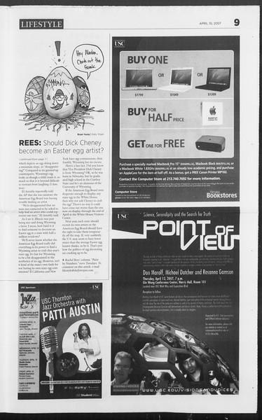 Daily Trojan, Vol. 160, No. 55, April 10, 2007