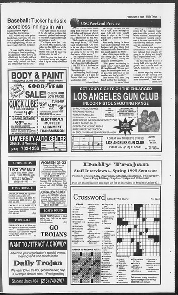 Daily Trojan, Vol. 124, No. 15, February 03, 1995
