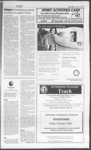 Daily Trojan, Vol. 144, No. 24, October 02, 2001