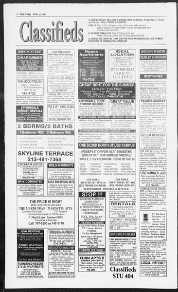 Daily Trojan, Vol. 124, No. 62, April 21, 1995