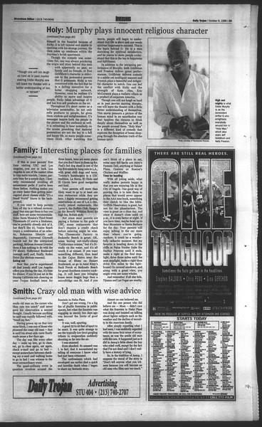 Daily Trojan, Vol. 135, No. 26, October 09, 1998