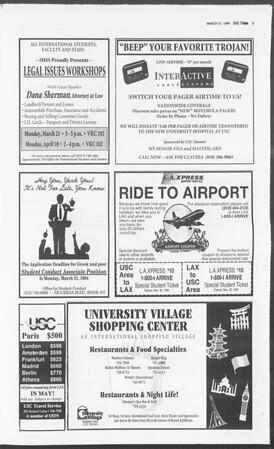 Daily Trojan, Vol. 122, No. 46, March 21, 1994