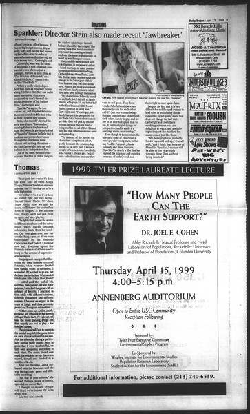 Daily Trojan, Vol. 136, No. 53, April 13, 1999