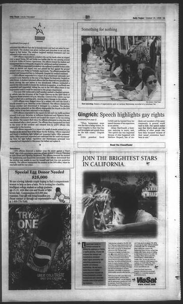 Daily Trojan, Vol. 135, No. 31, October 16, 1998
