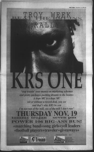 Daily Trojan, Vol. 135, No. 54, November 19, 1998