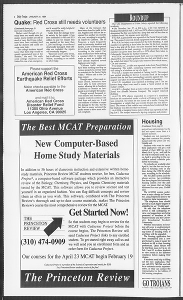 Daily Trojan, Vol. 122, No. 13, January 31, 1994