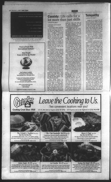 Daily Trojan, Vol. 136, No. 11, February 01, 1999