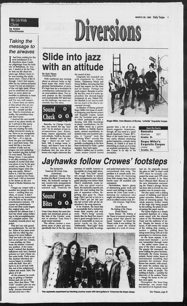Daily Trojan, Vol. 124, No. 45, March 29, 1995