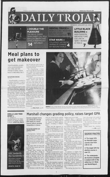 Daily Trojan, Vol. 160, No. 8, January 22, 2007