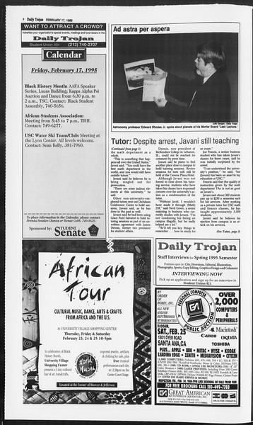 Daily Trojan, Vol. 124, No. 25, February 17, 1995