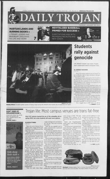 Daily Trojan, Vol. 160, No. 14, January 30, 2007