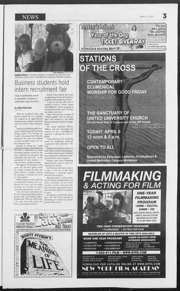 Daily Trojan, Vol. 160, No. 53, April 06, 2007