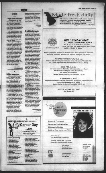 Daily Trojan, Vol. 136, No. 44, March 31, 1999