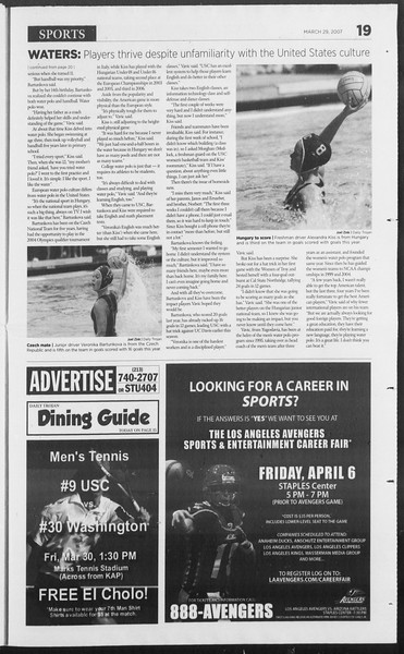 Daily Trojan, Vol. 160, No. 47, March 29, 2007